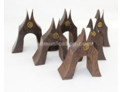 Ebony Guzheng Bridges, 1 Set (21 Pieces)