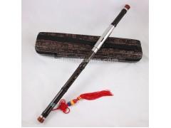 Professional Ebony Bawu Flute, Imitation Bamboo Joint