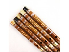 Quality Pluggable Bamboo Flute,Dizi,Imitation OX Horns at both ends