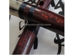 Pluggable red sandalwood  wooden Dizi flute,Dizi Kit