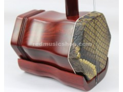 Quality engraved professional red sandalwood ERHU, with tutorial book+DVD(English)