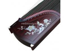 Professional Red Sandalwood Guzheng, Chinese 21-string Zither