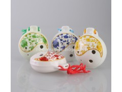 6 Hole Ocarina Ceramic Flute,OCA-TJ, 4 colors available