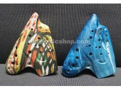 Plastic Triple Ocarina Alto C, for Professional