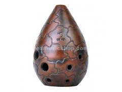 8 Hole Chinese Xun Pottery Flute, XUN-LX, 11 Notes
